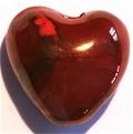 Herz Keramik irisierend rot