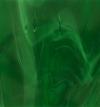 Tiffanyglas dunkelgrün geflammt klar, irisierend
