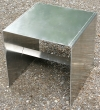 Aluminium-Hocker oder Beistelltisch