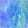Tiffanyglas violett-blau geflammt opak