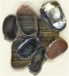 Elfenglas violett-schwarz transparent irisierend Nr. EG6