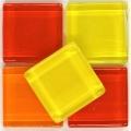 Softglas quadratisch 2x2 cm