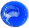 Glassnugget ultramarinblau, weiss geflammt glanz