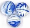 Glassnugget ultramarinblau geflammt glanz