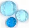 Glasnuggets hellblau glanz