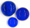 Glasnugget  dunkelblau glanz
