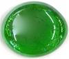 Glasnugget dunkelgrün verspiegelt