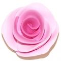 Blume Fimo Rosen pink-rosa