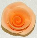 Blume Fimo Rosen orange